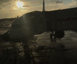 airport, london, and plane image