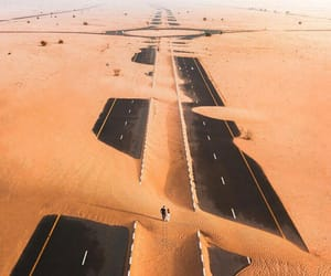 road, sand, and summer image