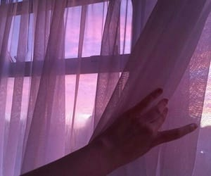 pink, sunset, and window image