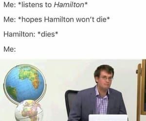 hamilton, history, and sad image