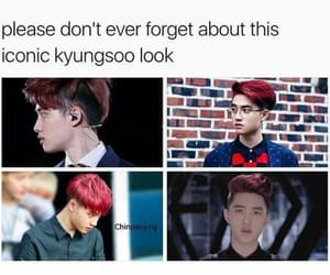 exo, kpop, and red hair image