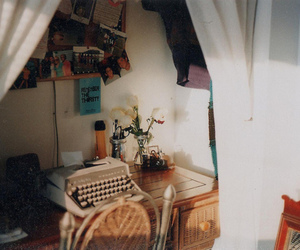 vintage, room, and typewriter image