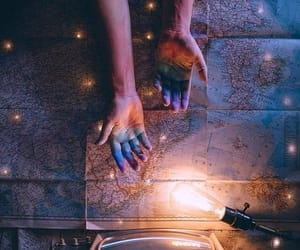 light, photography, and hands image