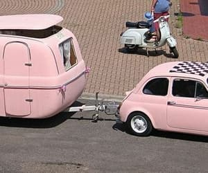 cars, fiat, and pink image