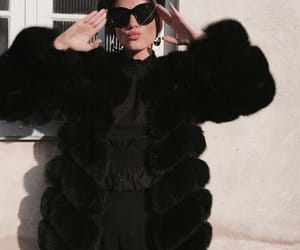 black, faux fur, and girls image