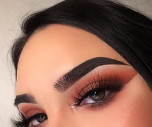 makeup, beautiful, and brown eyes image
