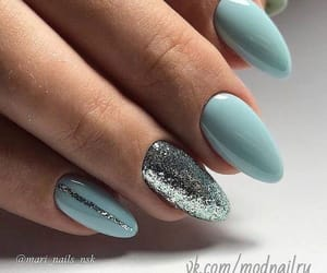 blue, glitters, and nails image