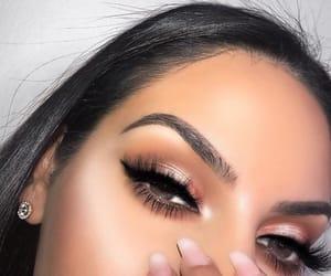 beautiful, brown eyes, and eye image
