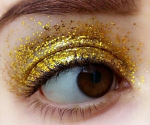 brown, eyes, and glitter image