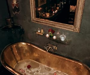 gold, bath, and luxury image