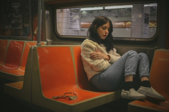grunge, sad, and alone image
