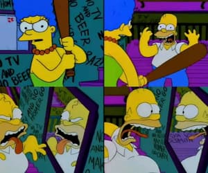funny, homer simpson, and marge simpson image