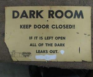 dark, funny, and dark room image