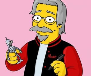 futurama, the simpsons, and matt groening image