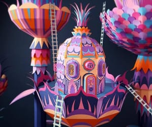 art, colours, and paper art image