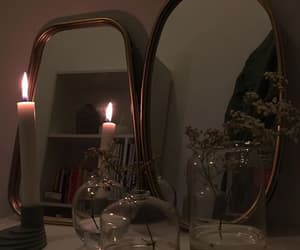 aesthetic, candle, and flowers image