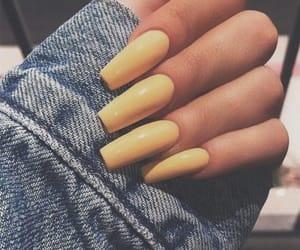 nails, yellow, and tumblr image