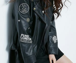 black, jacket, and kfashion image