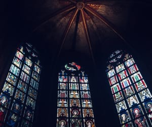 church and stained glass image