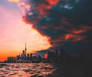 city, clouds, and nature image