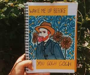 art, funny, and van gogh image