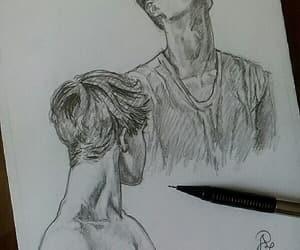 blanco y negro, chicos, and dibujo image