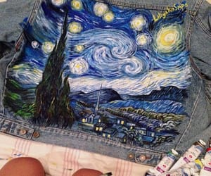 art, denim, and van gogh image