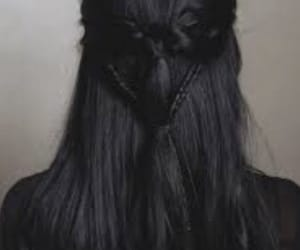 black, hair style, and hair aesthetic image