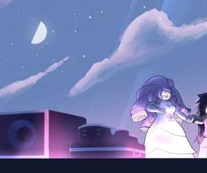 steven universe, greg universe, and rose cuarzo image