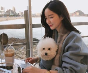 asian, dog, and girl image