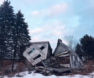 abandoned, snow, and adventure image