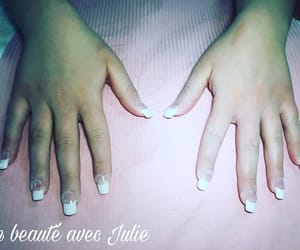 art, ongles, and white image