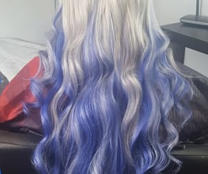 silver hair, lavender hair, and march 2017 image