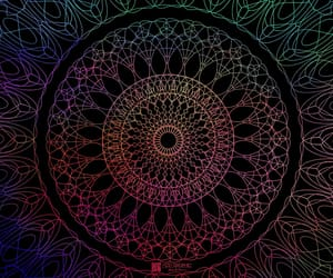 aesthetics, rainbows, and mandala image