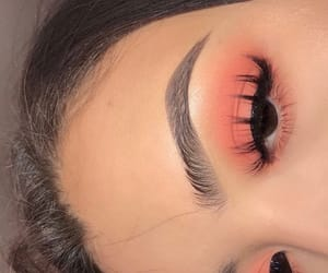 makeup, eyelashes, and eyebrows image