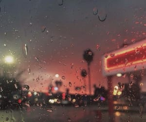 rain, aesthetic, and lights image