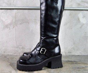1990s, black, and black boots image