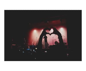 concert, heart, and music image