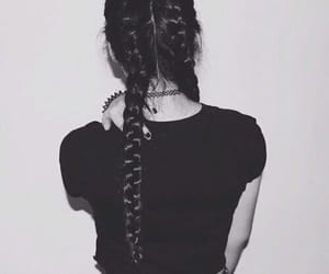 braids, brown hair, and trend image