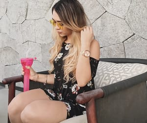 blonde, drink, and glasses image