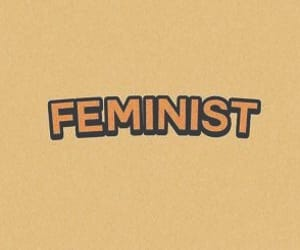 feminist, layout, and twitter image