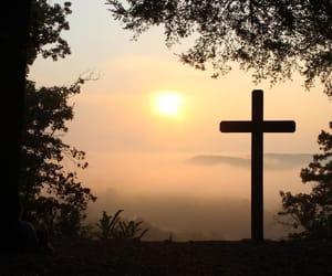 crosses, sky, and sun image
