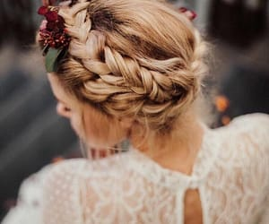 boho, bride, and hairstyle image