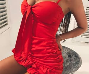 red dress, perfect goals, and fashion style image