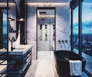 bathroom, beautiful, and blue image