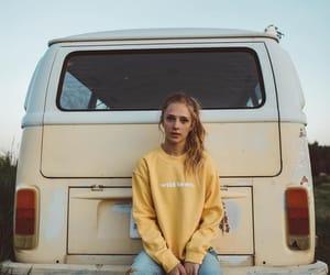 girl, yellow, and alternative image