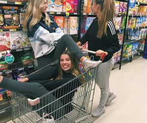 best friends, food, and girls night image
