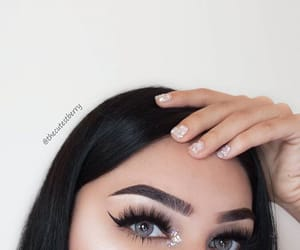 beautiful, nails, and blue eyes image