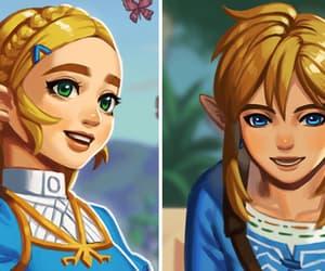 link and princess zelda image