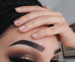 eyes, nails, and girl image